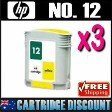 3x Yellow Ink for HP 12 C4806A Business Inkjet 3000 3000n 3000dtn