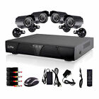 CCTV 8CH H.264 DVR 4 Outdoor IR Night Vision Home Security IP Camera System