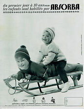 PUBLICITE ADVERTISING 115  1964  ABSORBA   pulls vetements ski enfants