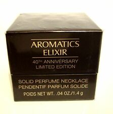 CLINIQUE AROMATICS ELIXIR 40TH LTD ED SOLID PERFUME NECKLACE PENDANT .04 OZ NIB