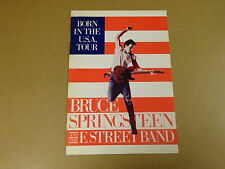 TOUR BOOK BRUCE SPRINGSTEEN AND THE E STREET BAND / BORN IN THE U.S.A. TOUR