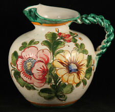 Vintage Italian Ceramic Pitcher Hand Made/Painted Folk Art Italy Collectible