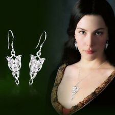 NEW Lord of the Rings Hobbit Arwen Evenstar Silver Plated Earrings Cosplay