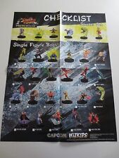Street Fighter Heroclix Checklist 2011 Poster Capcom Wizkids 22 x 17 in. (PG319)