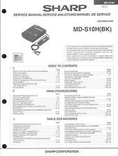 Sharp Original Service Manual für MD-S 10H