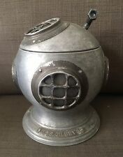 VINTAGE USS GILBEY'S  NAVY NAUTICAL MARINE DEEP SEA DIVER HELMET ICE BUCKET