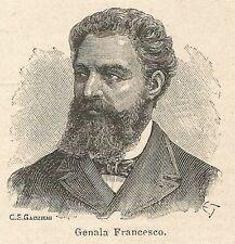 A6968 Francesco Genala - Stampa Antica del 1927 - Xilografia