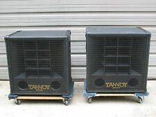 "RARE Pair of Tannoy Panther Loudspeaker Cabinets w/ 15"" Dual Concentric Speakers"