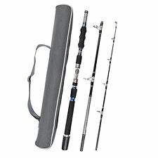 Fiblink 3-Piece Graphite Spinning Fishing Rod 6ft