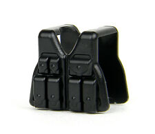 Black Vest V3 (W39) Tactical Army Vest Compatible with toy brick minifigure SWAT
