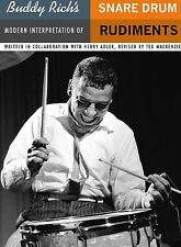BUDDY RICH'S SNARE DRUM RUDIMENTS BOOK - DRUMS