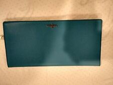 Cole Haan City Clutch wallet purse Blue Topaz Reflective Unit New With Tags NWT