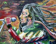 Bob Marley Original Reggae Art PAINTING Artist DAN BYL Celebrity Huge 4x5ft
