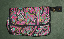 Women's Pink & Black MARY KAY Paisley Design Cosmetic Bag, Zipper w/Mirror, GUC!