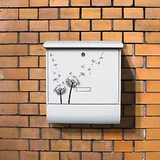Briefkasten weiß Zeitungsfach Burg-Wächter Motivbriefkasten Pusteblume 2 Mailbox