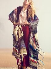 RARE! NWT Free People *TANGIER MAXI PONCHO* Sweater Coat Size S 4/6