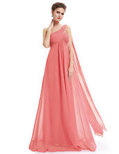 US Long Chiffon Evening Party Wedding Bridesmaid Dresses Prom Ball Gowns 09816