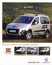 Dangel Peugeot Partner 4x4 12 / 2009 catalogue brochure tcheque Czech rare