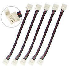 WOW - 5 X 5050 RGB LED Light Strip to Strip 4Pin PCB to PCB Wire Adapter Cable