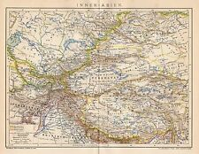 B6210 Central Asia - Carta geografica antica del 1901 - Old map