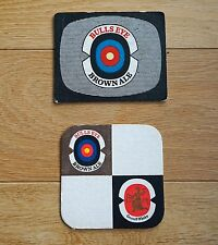 2 x Vintage Beermat Coasters  from  1960's. Greenmail Whitley Bull's Eye