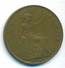 GREAT BRITAIN UK COIN 1 PENNY 1921 BRONZE KM# 810 VF