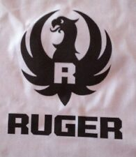 """1 RUGER LOGO ON 18X18 SEWING BLOCK QUILT FABRIC """" GUNS 22 PISTOLS RIFLE"""