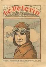 Portrait Aviateur André Japy Pilote Raid Paris Tokyo France 1936 ILLUSTRATION