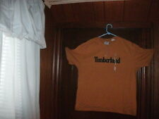 BOX #60 Timberland t-shirt short sleeve mustard with front chest size small NWT