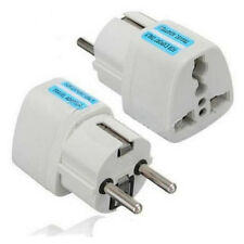 Hot Us Uk Au To Eu Europe Travel Charger Adapter Converter Wall Plug