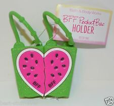 2 BATH BODY WORKS BFF WATERMELON SET POCKETBAC HOLDER HAND GEL SANITIZER CASE