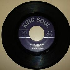 NORTHERN SOUL 45 RPM RECORD - GLORIA TAYLOR - KING SOUL 865