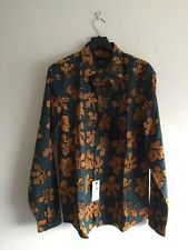 BURBERRY PRORSUM Leaf-Print Cotton and Silk-Blend Shirt EU 43/17