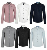 Smith & Jones Esprit Men's New Long Sleeve Slim Fit Shirts Check Plain Pattern