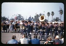 1950s amateur Photo slide Los Angeles County Teenage Boys Marching Band