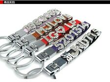 Personalized Custom any number letter Crystal Glass Car Pendant Keychain Keyring