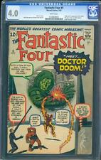 Fantastic Four 5 CGC 4.0 WP Silver Age Key Marvel Comic 1st Doc Doom IGKC L@@K