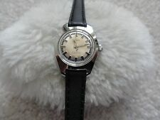 Vintage Timex Electric Ladies Watch with a Black Leather Band