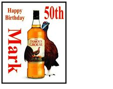 "Personalised The Famous Grouse Whiskey bottle A4 Icing Sheet 10""x8"" Cake Topper"
