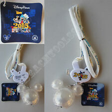 """New Authentic Disney Parks Mickey Mouse 2015 LED Light Up 30"""" Necklace Lanyard"""