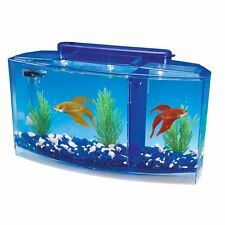 Betta Fish Tank Aquarium With Divider Filter Tanks Small Penn Plax Deluxe Triple