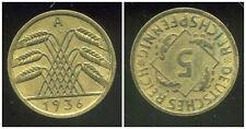 ALLEMAGNE GERMANY 5 reichspfennig 1936 A    ( it )