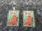 OMG I'm So Retro! Keyring and Magnet Set. NEW. Comic Book Pop Art