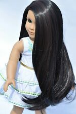 American Girl Doll Custom Wig Heat Safe Natural Brown Black ©EDD