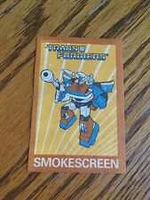 Smokescreen Reflect In the Dark Iron On Patch G1 Transformers 1986 RARE