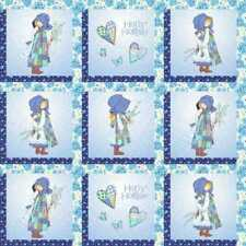 HOLLY HOBBIE SQUARES FABRIC PANEL