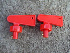 2 x FIA Spare Key for Battery Cut Off Isolator Switch Red RACE RALLY CAR