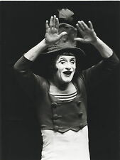 PHOTO VINTAGE 1974 : MIME MARCEL MARCEAU BIP photo N. TREATT