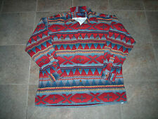 RARE VTG POLO RALPH LAUREN INDIAN FLANNEL SHIRT SIZE M AZTEC BEACON 92 STADIUM