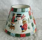 Yankee Candle Large Jar Candle Shade Topper Ceramic Snowman Family Patchwork